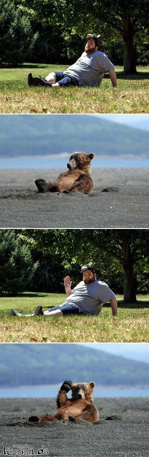 Mensch und Bär