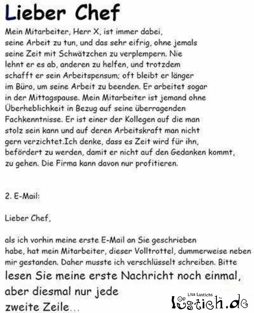 Email an den Chef