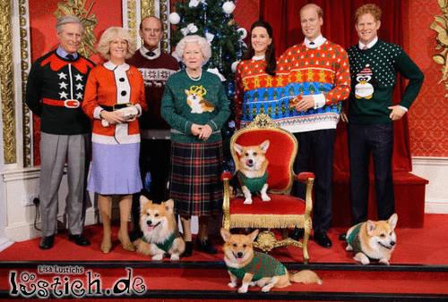 Britisches Weihnachtsfoto
