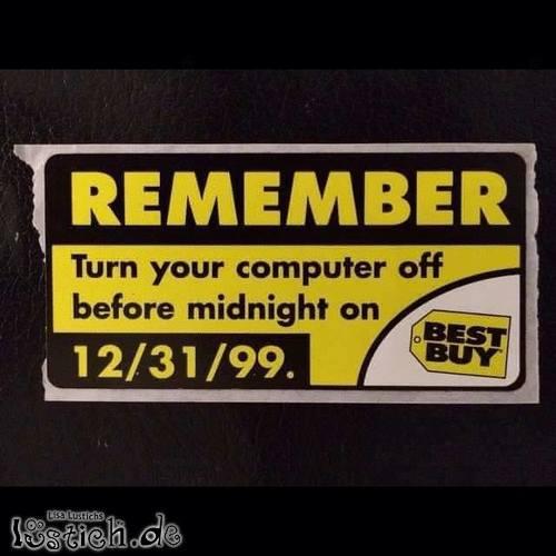 Remember 31/12/1999