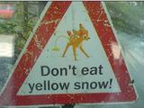 gelber Schnee