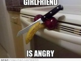 Wütende Freundin