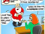 Weihnachtsmann in Not
