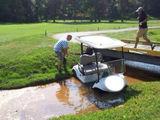 Wässriges Golfcart