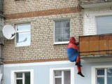 Spiderman im Training