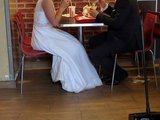 Romantisches Hochzeitsmahl