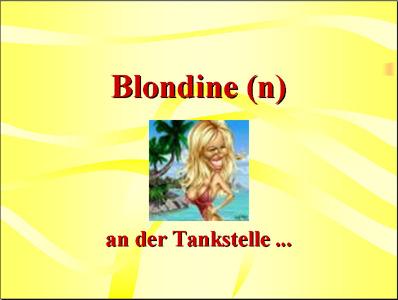 Blondine an der Takstelle