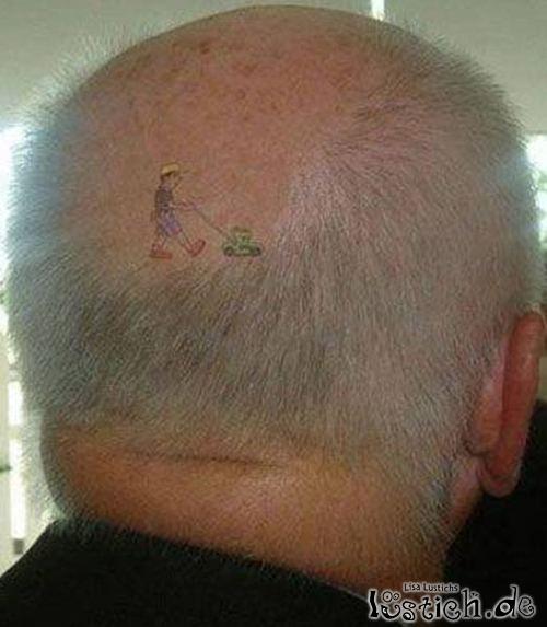 Glatzen-Tattoo