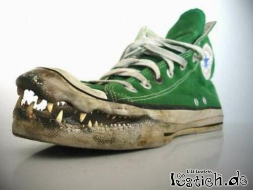 Bissiger Schuh