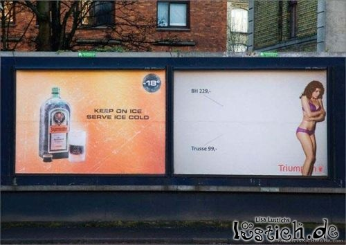Coole Werbeplatzierung
