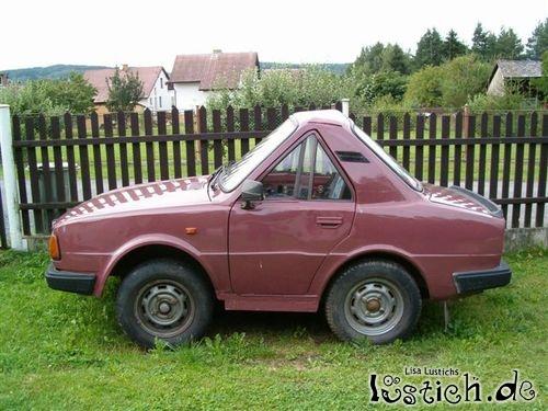 Sehr kurzes Auto