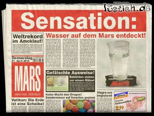 Wasser auf Mars gefunden
