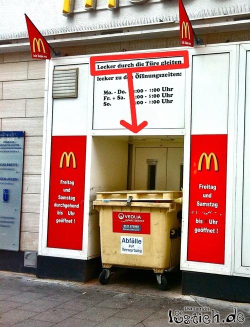 McDonalds lusticher Eingang