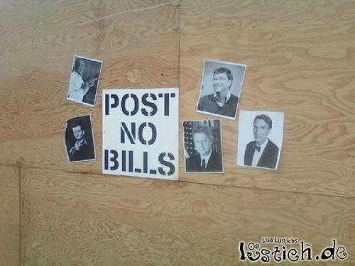 Plakatieren verboten!