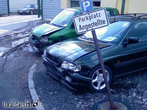 Angestellten-Parkplatz