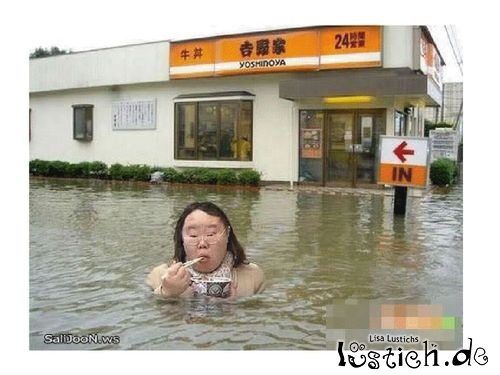 Hungrig trotz Hochwasser