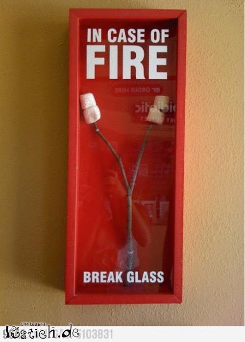 Falls es brennt