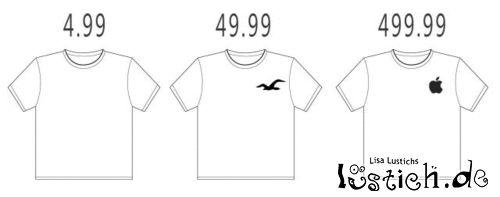 Shirts und deren Preise