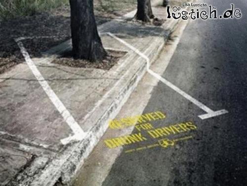 Betrunkenen Parkplatz