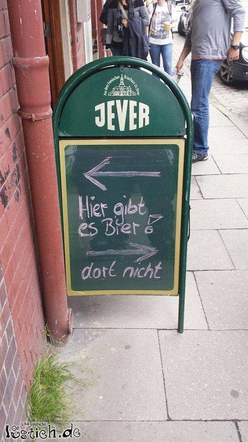 Bier-Schild