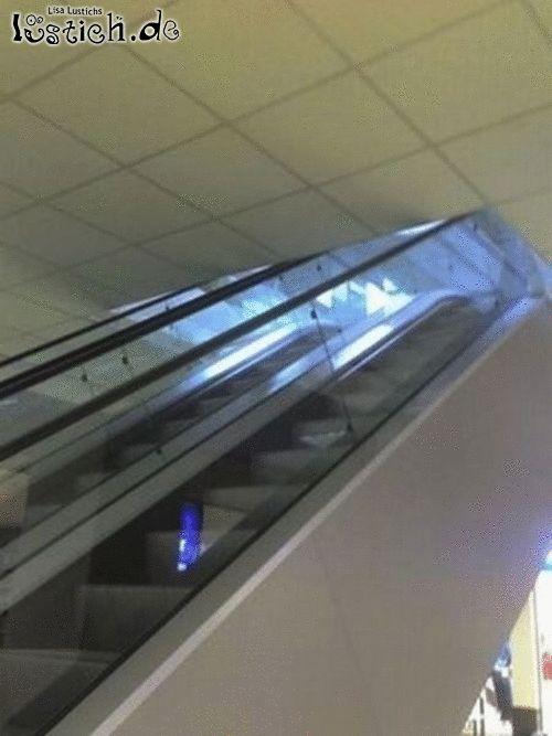 Kopflose Rolltreppe