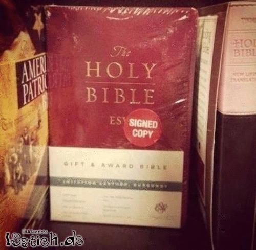 Signierte Bibel