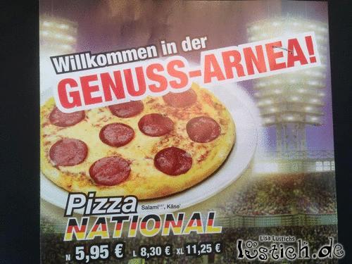 Verwirrte Pizza
