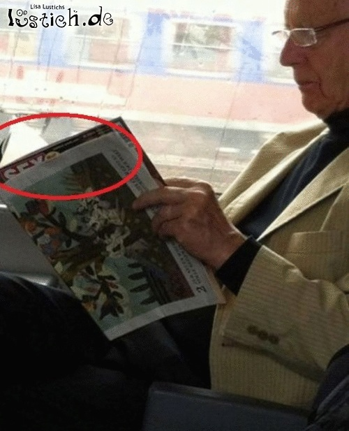 Zeitung lesen