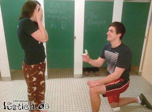 Echte Toilettenromantik