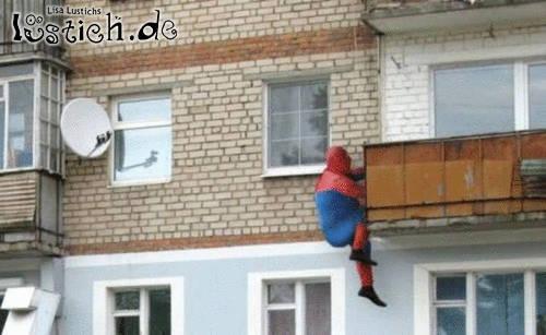 Spiderman im Training