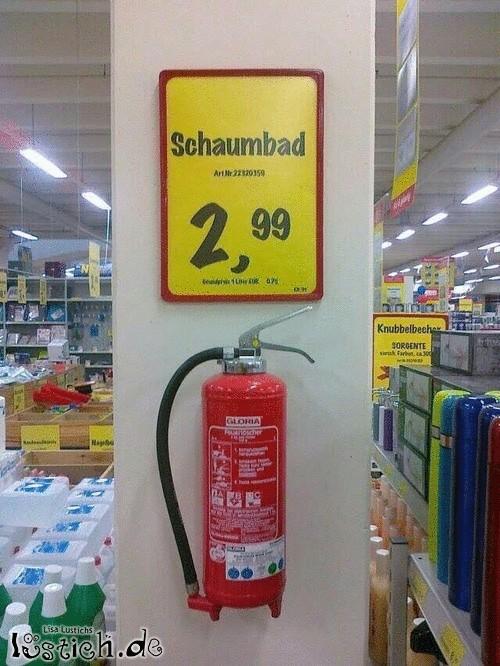 Schaumbad für 2,99 Euro