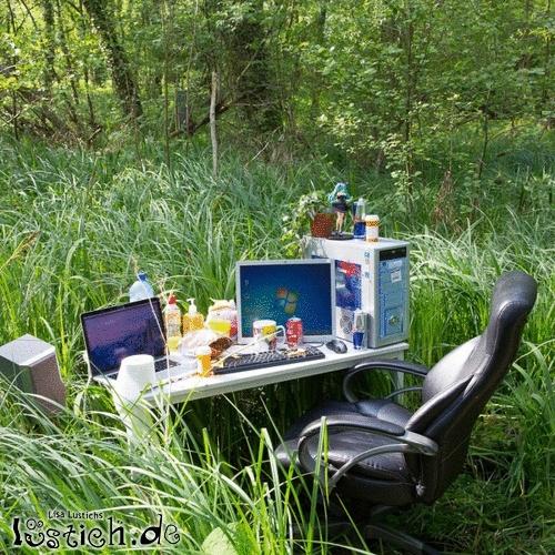Büro im Freien