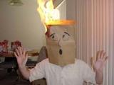 Brennende Tüte