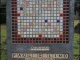 Scrabble-Grabstein