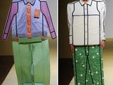 Anzug zum selber Ausschneiden