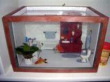 Badezimmer-Aquarium