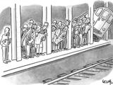 Auf den Zug warten