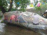 Großer Regenschutz